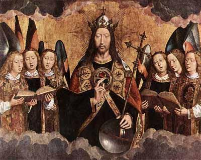 Фламандский художник Ганс Мемлинг (XV век) изобразил символ трех кругов на груди Христа